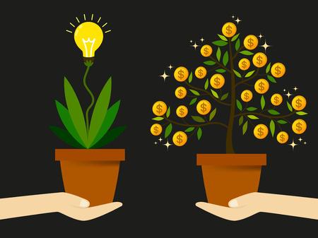 g�n�rer: Cr�er de nouvelles id�es pour trouver un moyen de g�n�rer des revenus pour augmenter les profits des entreprises. Illustration