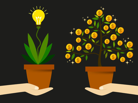 fondos negocios: Crear nuevas ideas para encontrar una forma de generar ingresos para aumentar los beneficios de los negocios.
