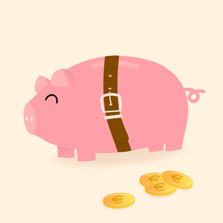 tight: piggy bank be tight with a belt