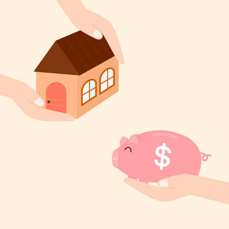 bringing: bringing savings to invest in real estate or buy housing in the future. Illustration