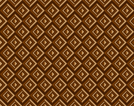sorrel: pattern of square shape in light brown and dark brown color, look have a dimension in retro style.