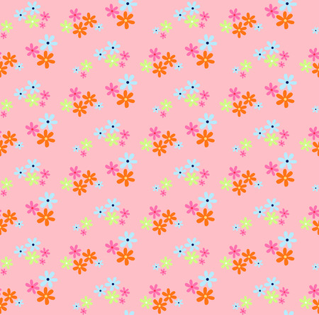 cute wallpaper: seamless pattern of small multi-colored flowers look lovely in sweet style, ideal for children and girl