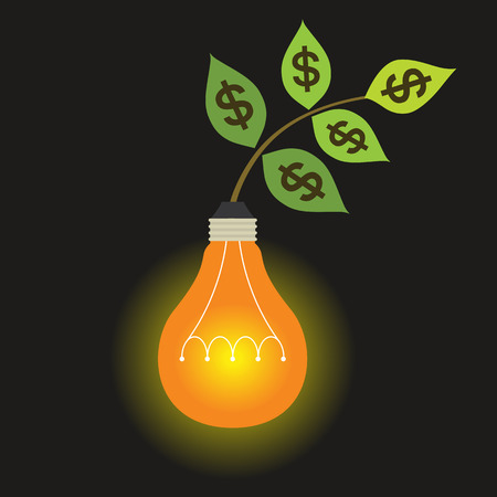 profitable: Creativity can makes the investment more profitable like a tree grow up.