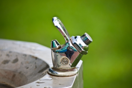chromium plated: Faucet Stock Photo
