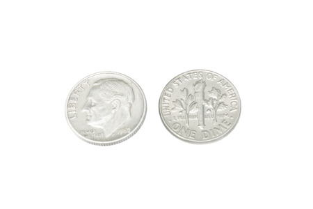 dime: Old Coin of US 1962 Stock Photo