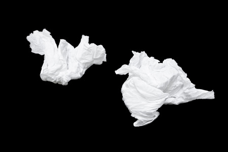 tissues: Tissues used Stock Photo