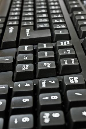 teclado de computadora: Negro teclado de computadora Foto de archivo