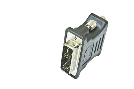 computer peripheral: computer peripheral plug Stock Photo