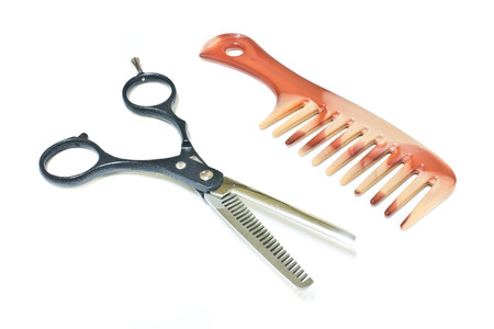 hairdressing scissors: Hairdressing Scissors and comb