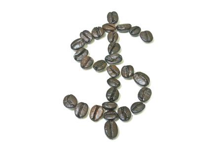 dollar symbol: coffee bean, Arrange is dollar symbol Stock Photo