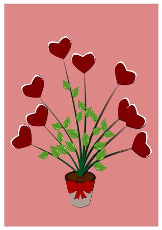 flower heart: Flower heart illustration