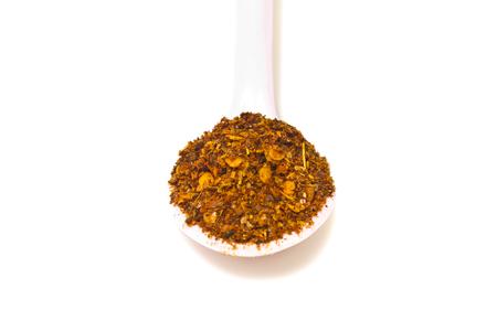 cayenne: cayenne chili in spoon Stock Photo