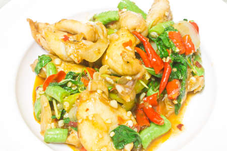 pescado frito: Pescado frito picante