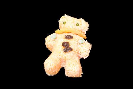fried: Fried Rice, bear shape Stock Photo