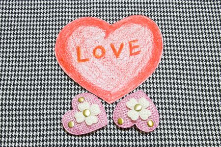 pink heart: Red heart and pink heart Stock Photo