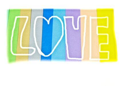 papier couleur: Amour, fond color�, papier de couleur