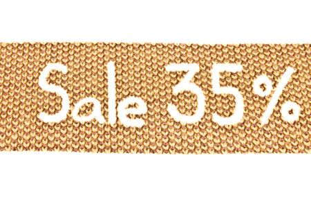 35: 35 percent discount Stock Photo