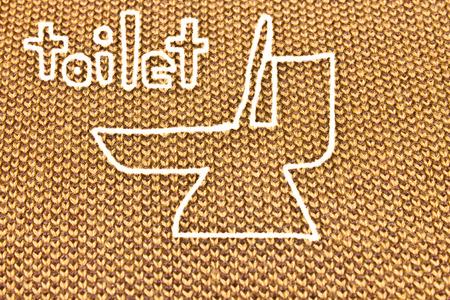 toilet symbol: Flush toilet symbol