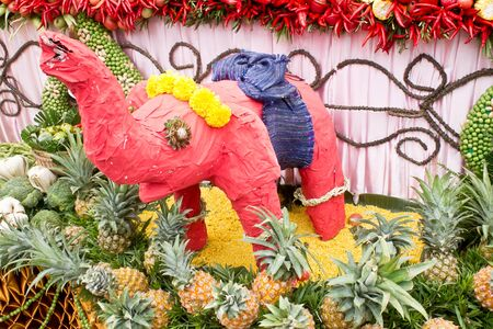 thailand art: Elephant handicraft Thailand art Stock Photo