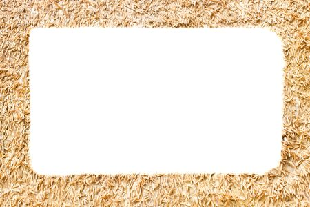 chaff: picture frame made of rice chaff Stock Photo