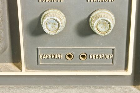 controls: Vintage TV controls Stock Photo