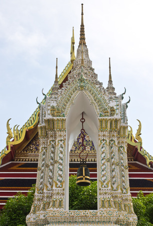 public domain: Belfry in old temple, Bangkok, Thailand. In Thailand public domain or treasure of Buddhism. no copyright, no name of artist appear. Stock Photo