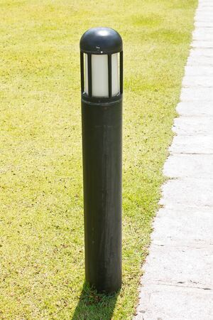 floor lamp: floor lamp in garden