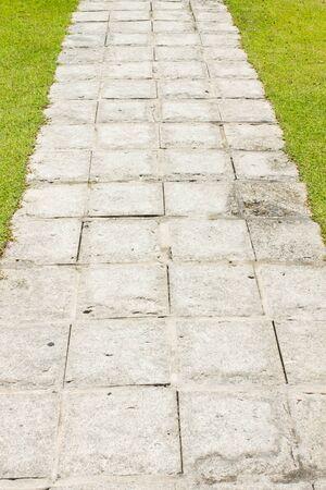 walkway: Pathway, walkway in garden Stock Photo