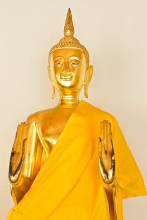 no name: Buddha statue, Golden Buddha in Temple, In Thailand public domain or treasure of Buddhism. no copyright, no name of artist appear.