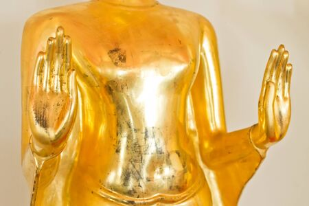 no name: Buddha statue, Golden Buddha in Temple, In Thailand public domain or treasure of Buddhism. no copyright, no name of artist appear
