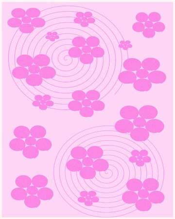 pink flower: Abstract Pink Flower Background Vector Illustration