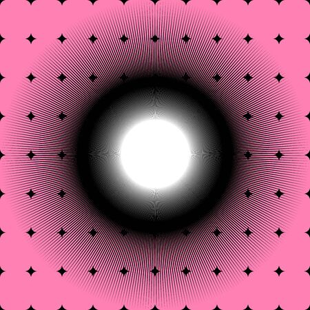 black hole: Black Hole On Pink Background Abstract Vector