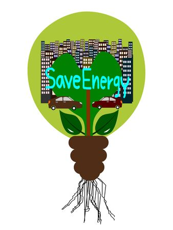 energy conservation: Save Energy Light bulb, Energy Conservation Vector