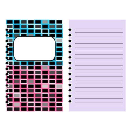 notebook cover: Notebook cover, notebook template design vector