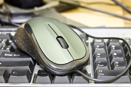 input devices: Computer mouse Stock Photo