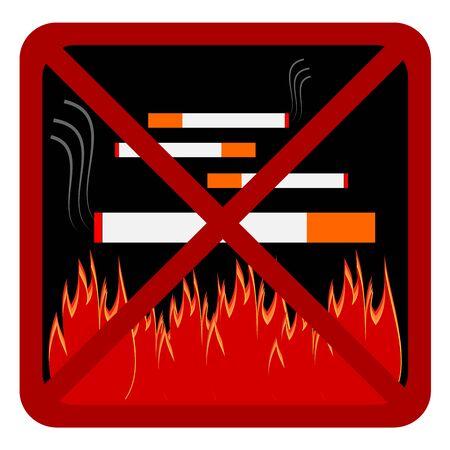 anti smoking: Anti smoking symbol, Anti cigarette Vector