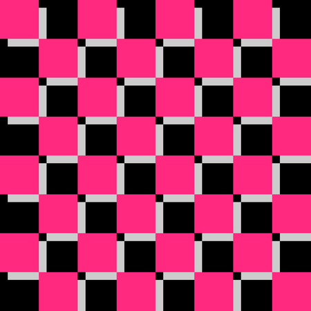 checkerboard backdrop: Checkerboard Black And Pink Background Vector Illustration