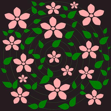 pink flower: Pink flower, Flower pattern background vector Illustration