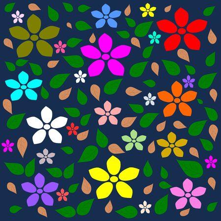 multi colour: Colorido de la flor, flor Multi color de fondo vector