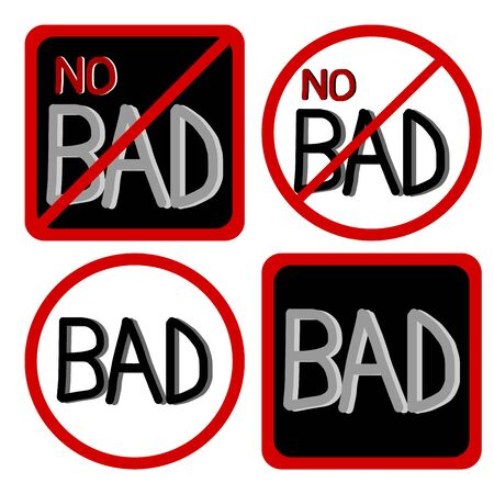 do not: Do not bad symbol, Not Allowed Sign, No bad sign, Stop bad symbol vector Illustration