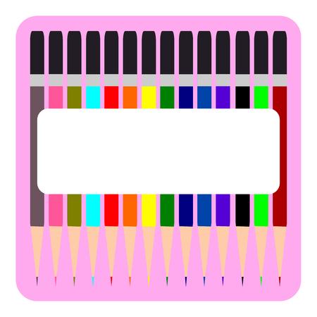multi: Colorful Pencil, Multi colored pencils set vector Illustration