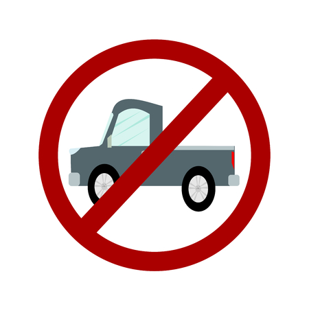 do not: Not Allowed Sign, Do not car sign, No car symbol vector Illustration