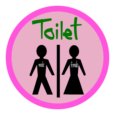 toilet icon: Toilet symbol Male and Female, toilet sign, toilet icon vector