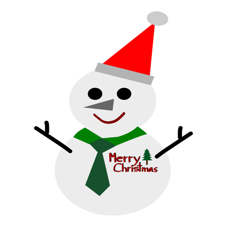 Snowman isolated on white vector