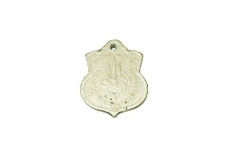 monete antiche: Vecchie monete su sfondo bianco Archivio Fotografico