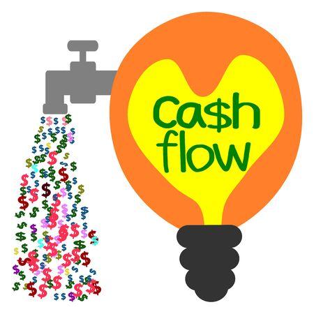 cash flows: Cash flow, business concept vector
