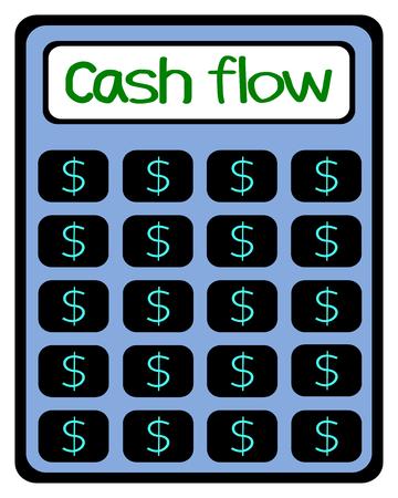 cash flow: Calculator, Cash flow, business concept vector