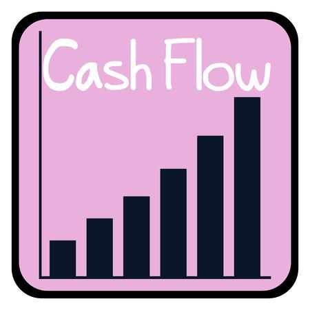 Crecimiento, flujo de efectivo, concepto de negocio de vector