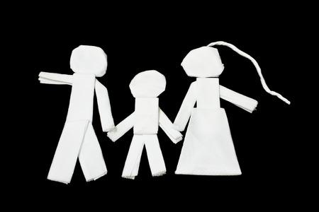 Tissues: Family, art from tissues Stock Photo