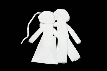 Tissues: Couple art from tissues, sweetheart